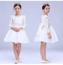 Flower girl formal dress white colour 110-150cm