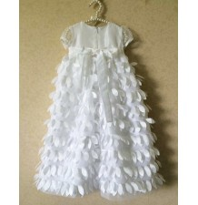 White baby girl ceremony/christening dress 3-24 months