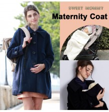 Multi Use Mother Coat with baby pouch for stroller