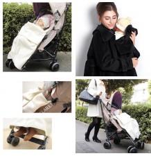 Cappotto mamma bambino con sacco passeggino coordinato