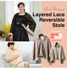 Layered Lace Reversible Stole
