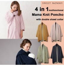 Multifunctional knit maternity and mom poncho