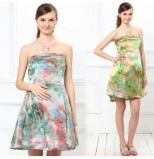 Silk Maternity Nursing Formal Dress