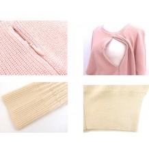 Maglione di Cotone Bio Premaman e Allattamento
