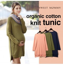 Organic Cotton Maternity Nursing Knit Tunic