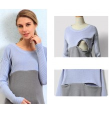 Organic cotton maternity and nursing sweater