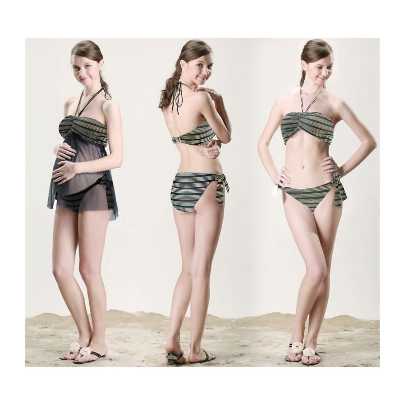 Maillot de Bain de grossesse Tankini Bikini Transformable