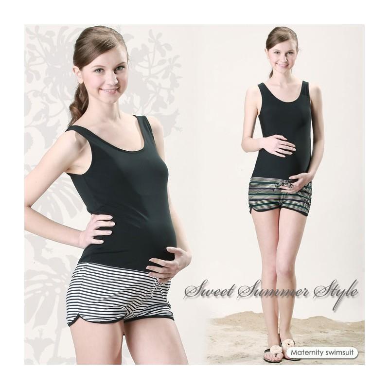 Lowrise Design One Piece Maternity And Nursing Swimsuit