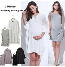 Maternity and nursing 2 pieces summer set