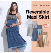 Maxi jupe de grossesse double face