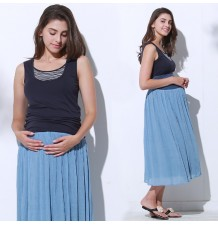 Maternity reversible maxi skirt