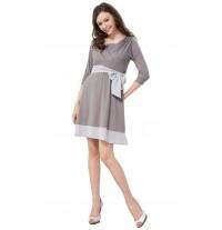 Maternity Nursing Dress with Chiffon Tie