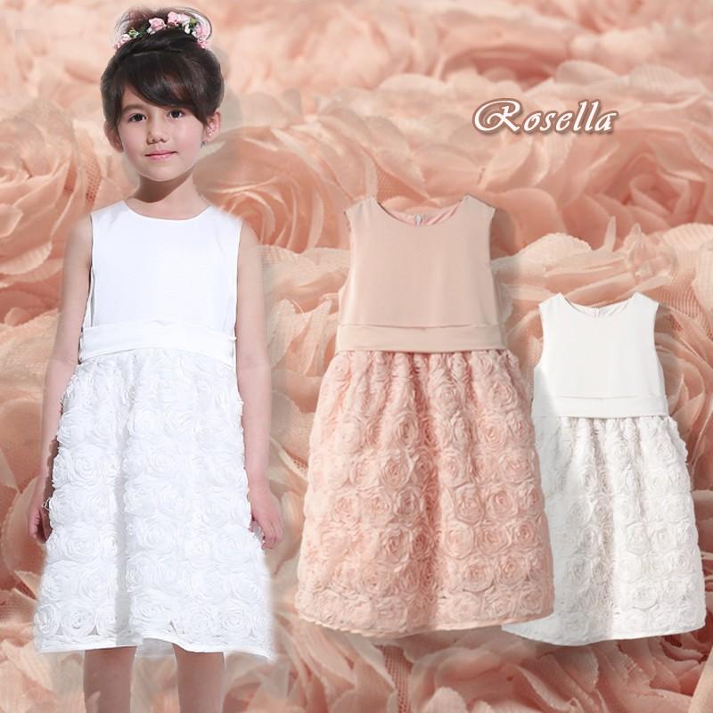 """Robe de Cérémonie Demoiselle d'honneur Fille Bébé """"Rosella"""" 6M-10 ans"""