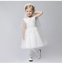Flower girl formal dress white colour 80-140cm