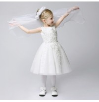 Flower girl formal dress white colour 80-150cm