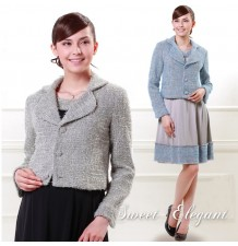 Italian Tweed Tailored Maternity Jacket