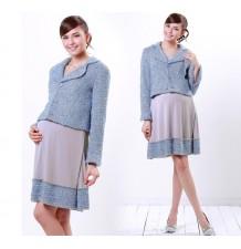 Veste de grossesse de haute couture en tweed italien