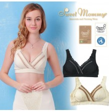 Organic Cotton Stretch Lace Maternity Nursing Bra