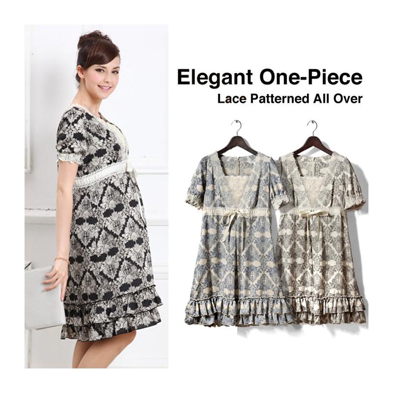 Ensemble Maternité Allaitement robe et fond de robe