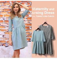 3/4 Sleeve Maternity Nursing Dress