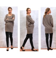 Maternity and nursing tunic sweater
