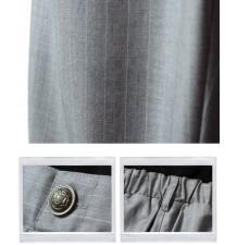 Pantaloni Premaman Gessati Con Doppia Regolazione In Vita