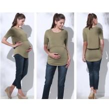 Top de grossesse et allaitement en tissu de bambou