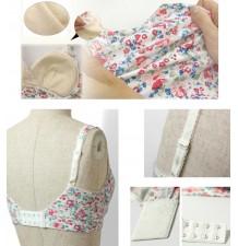 Flower Print Maternity Nursing Bra