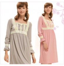 Feminine and Lacy Maternity Nursing Pajamas