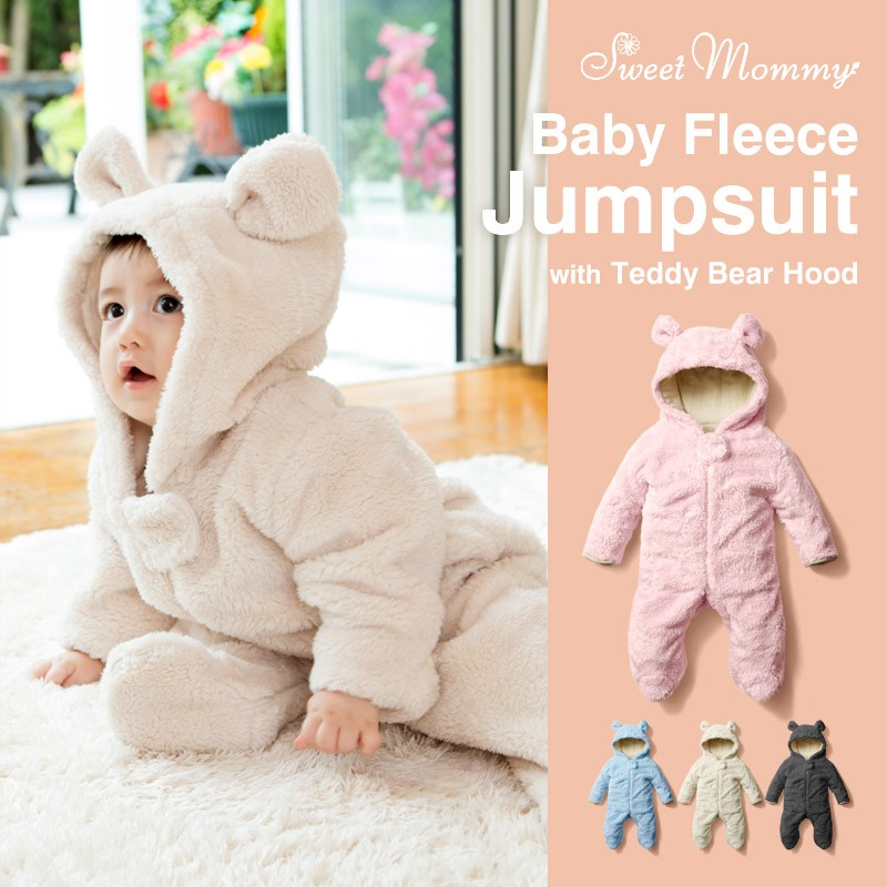 Baby Bear Costume Lined Of Organic Cotton