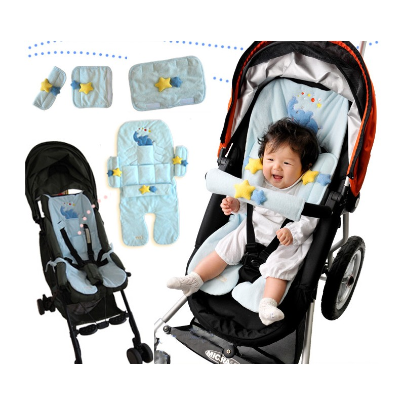 Universal Baby Stroller Seat Liner With Cooling Pads and Accesso