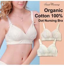 Organic Cotton Dot Maternity Nursing Bra