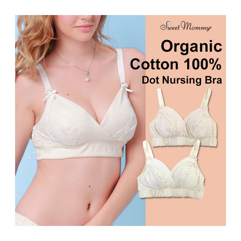Organic Cotton Dot Maternity Nursing Bra