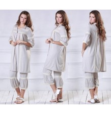 Romantic Lace Maternity Nursing Pajamas
