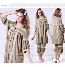 Pyjama Premaman Allaitement Avec Dentelle Romantique