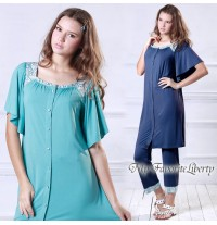 Liberty Square-neck Maternity and Nursing Pajama Set