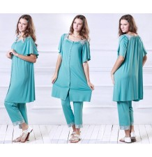 Liberty Square-neck Maternity and Nursing Pajama Set