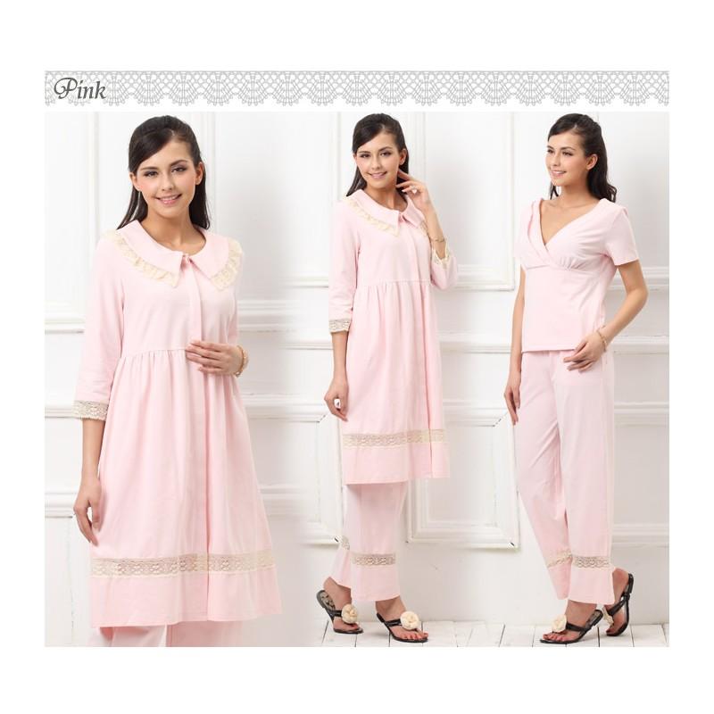 Pyjama de Grossesse & Allaitement 3 pièces