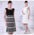 Sleeveless Lace Maternity Nursing Fomal Dress
