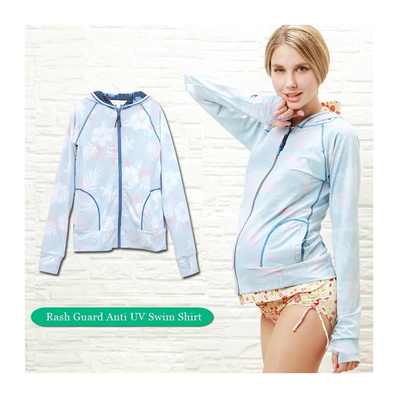 Maternity long sleeve rash guard anti UV swim shirt