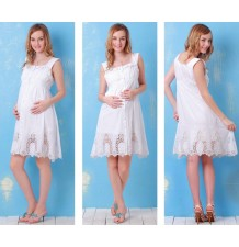 Maternity Nursing Cotton Dress