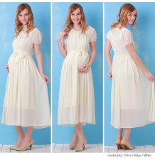 Chiffon Maternity & Nursing Dress with Organic Cotton Inner Camisole set