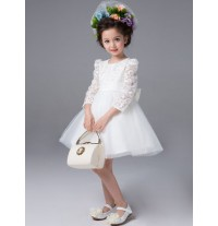 Flower girl formal dress white colour 100-140cm