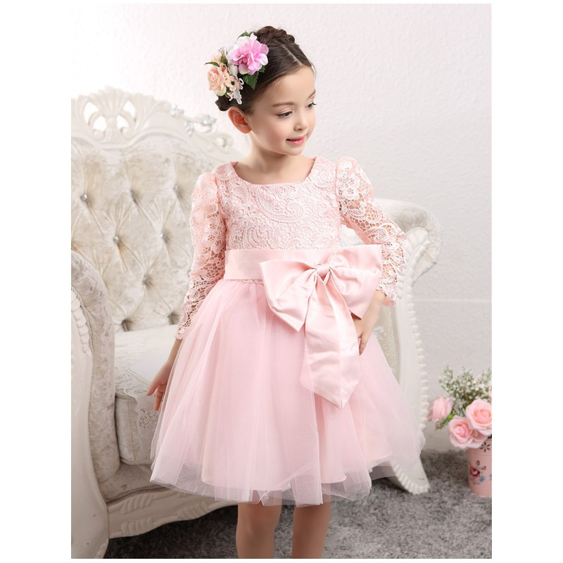 Flower Girl Formal Dress White Colour 100 140cm Sweet Mommy