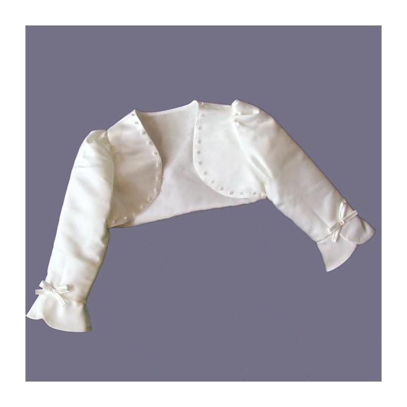 Bolerino Cerimonia Bambina Bianco 80-130cm