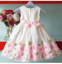 """Robe Cérémonie Fille   Demoiselle d'honneur Modèle """"Rose Princess"""" 3-7T"""