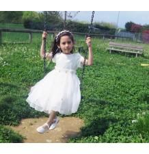 Abitino cerimonia | damigella bimba bianco 3-6 anni