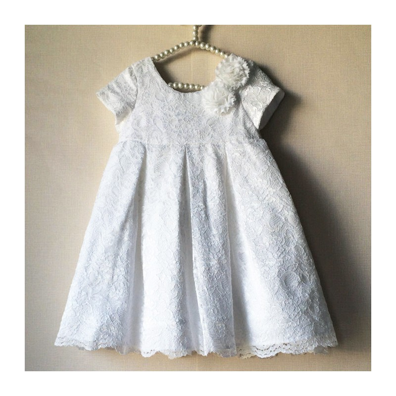 Baby Flower Girl Lacy Formal Dress 2-6T