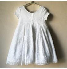 Robe de cérémonie fille Demoiselle d'honneur  avec détails en dentelle 2-6T