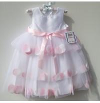 Robe de céremonie petite fille Demoiselle d'honneur en tissu Chantung 2-6 ans